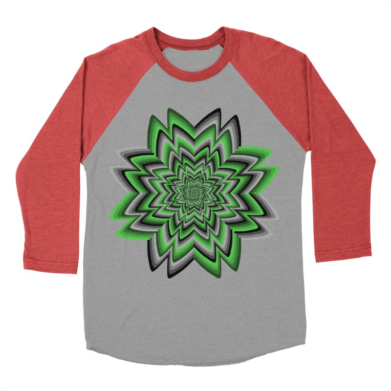 Wacky Clover Men's Baseball Triblend Longsleeve T-Shirt by nickaker's Artist Shop