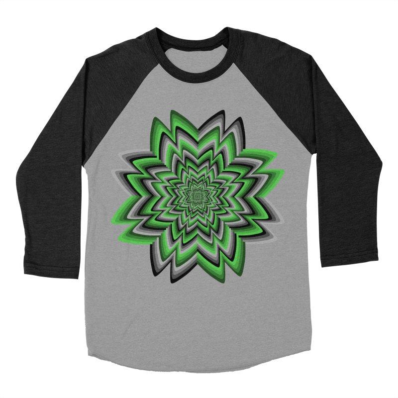 Wacky Clover Men's Baseball Triblend Longsleeve T-Shirt by nickaker's Artist Shop