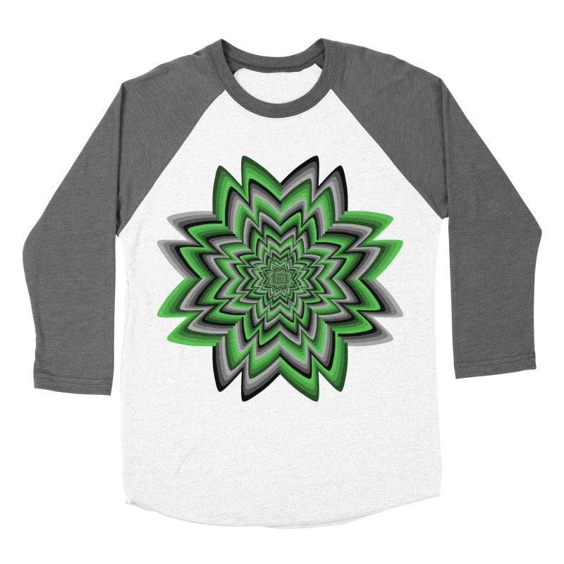 Wacky Clover Men's Baseball Triblend T-Shirt by nickaker's Artist Shop