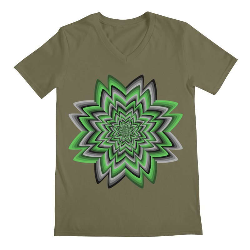 Wacky Clover Men's V-Neck by nickaker's Artist Shop