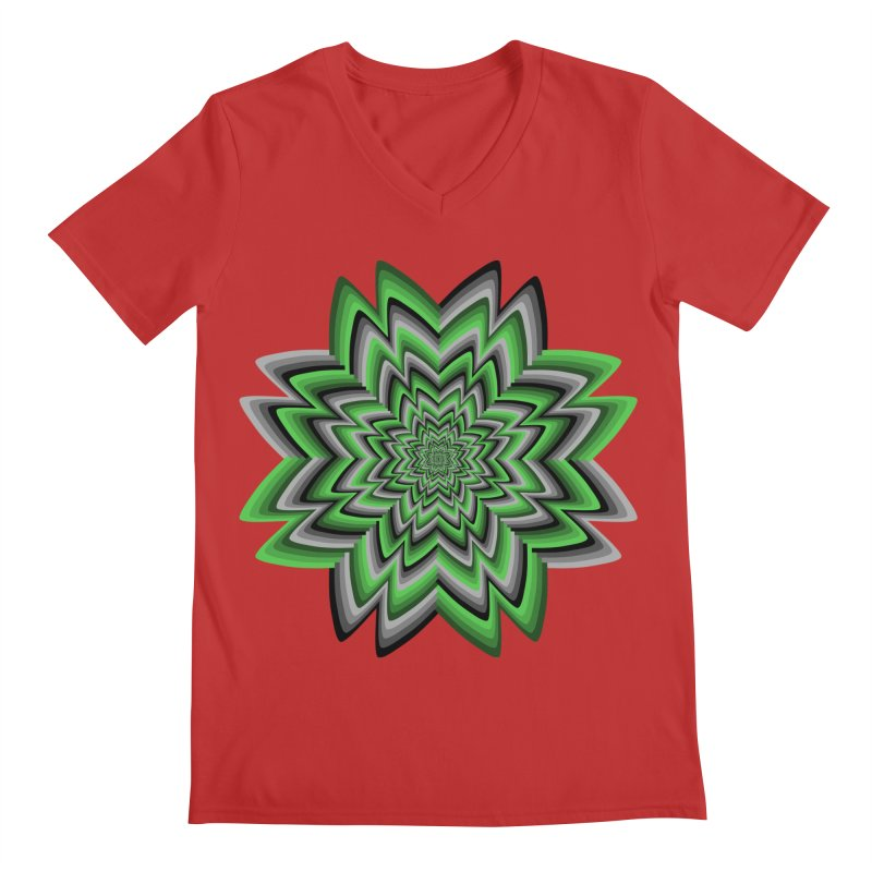 Wacky Clover Men's Regular V-Neck by nickaker's Artist Shop