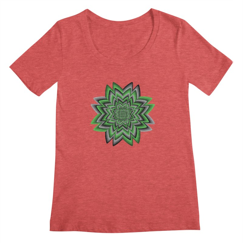 Wacky Clover Women's Scoopneck by nickaker's Artist Shop