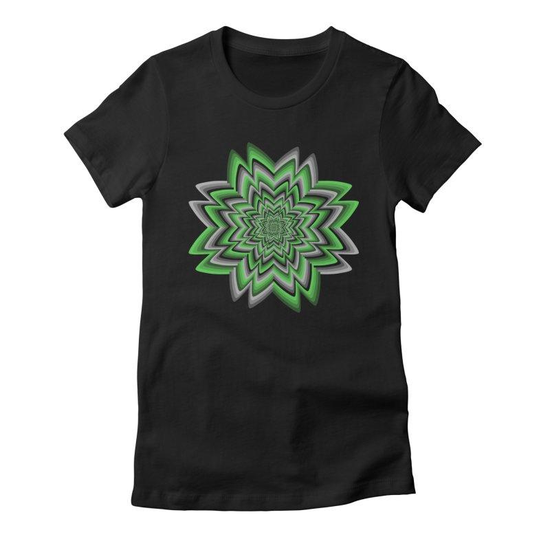 Wacky Clover Women's Fitted T-Shirt by nickaker's Artist Shop