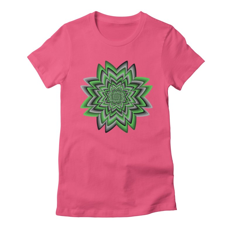 Wacky Clover Women's Fitted T-Shirt by nickaker's Artist Shop