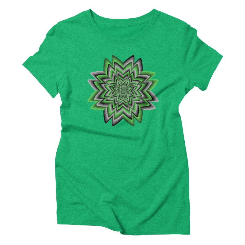 Wacky Clover Women's Triblend T-shirt by nickaker's Artist Shop