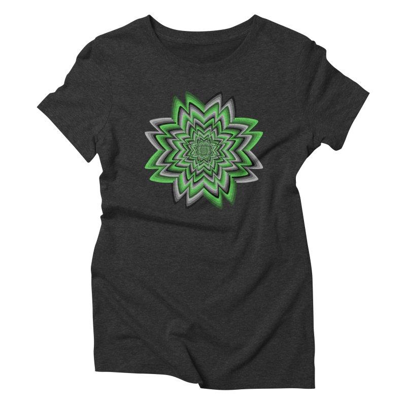 Wacky Clover Women's Triblend T-Shirt by nickaker's Artist Shop