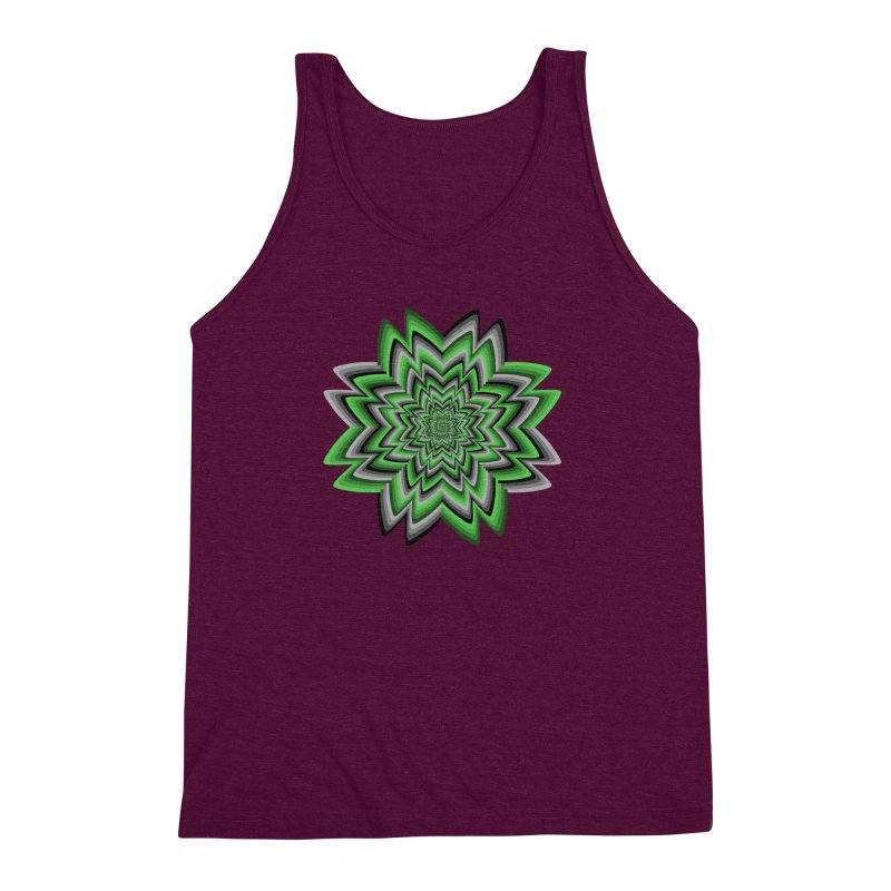 Wacky Clover Men's Triblend Tank by nickaker's Artist Shop