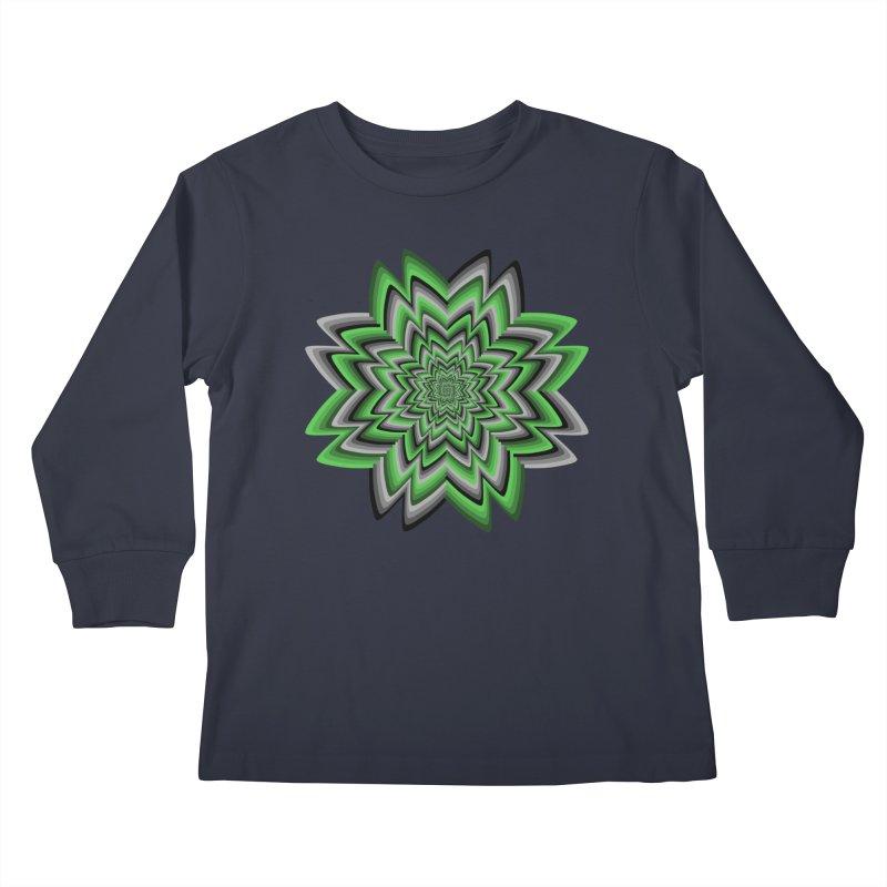 Wacky Clover Kids Longsleeve T-Shirt by nickaker's Artist Shop