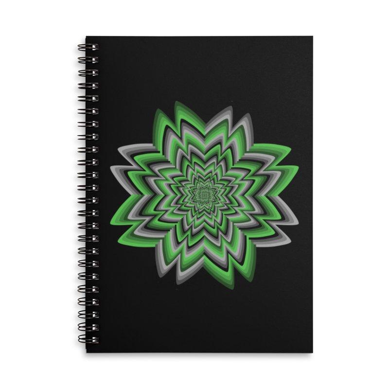Wacky Clover Accessories Lined Spiral Notebook by nickaker's Artist Shop