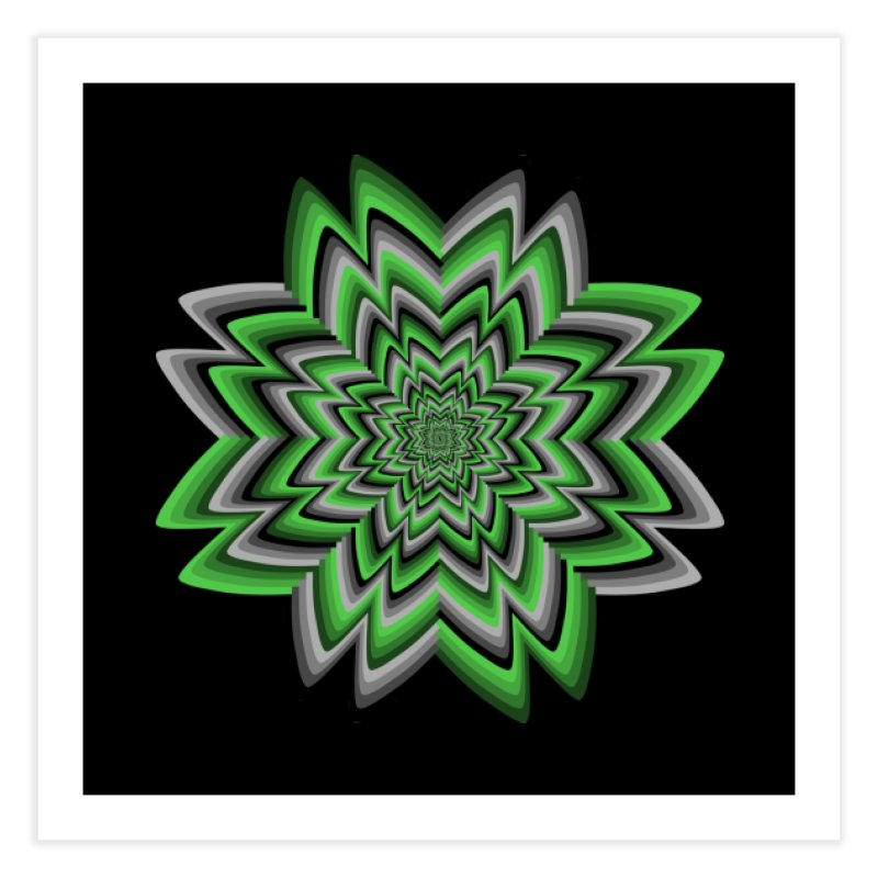 Wacky Clover Home Fine Art Print by nickaker's Artist Shop