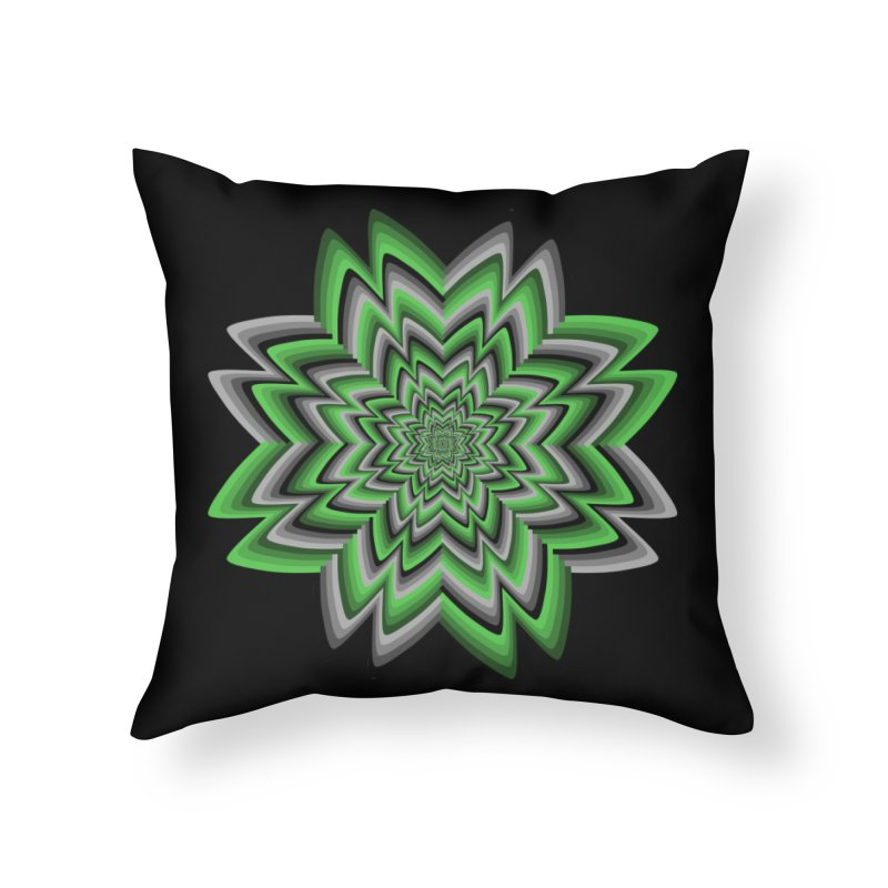 Wacky Clover Home Throw Pillow by nickaker's Artist Shop