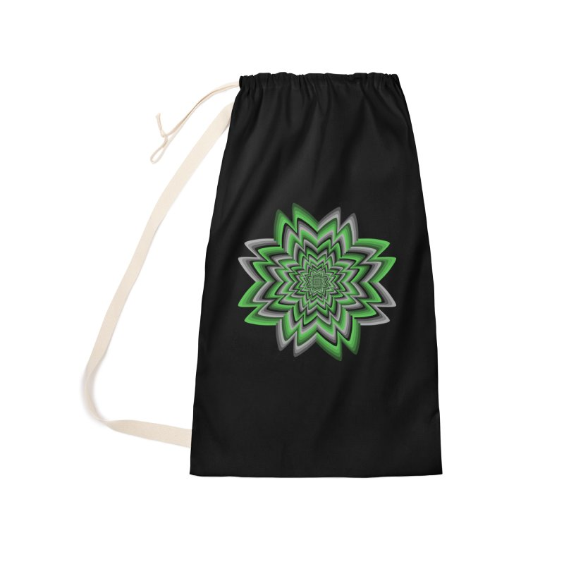 Wacky Clover Accessories Laundry Bag Bag by nickaker's Artist Shop