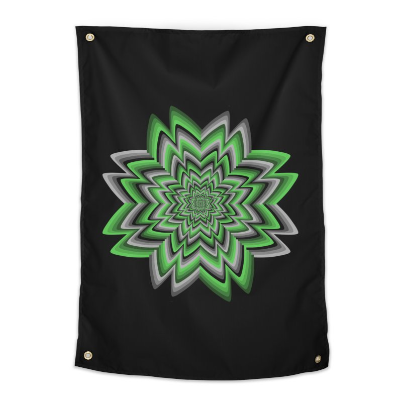 Wacky Clover Home Tapestry by nickaker's Artist Shop