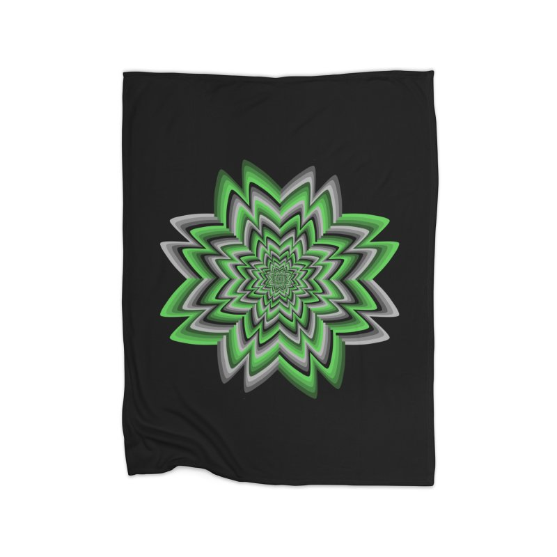 Wacky Clover Home Fleece Blanket Blanket by nickaker's Artist Shop