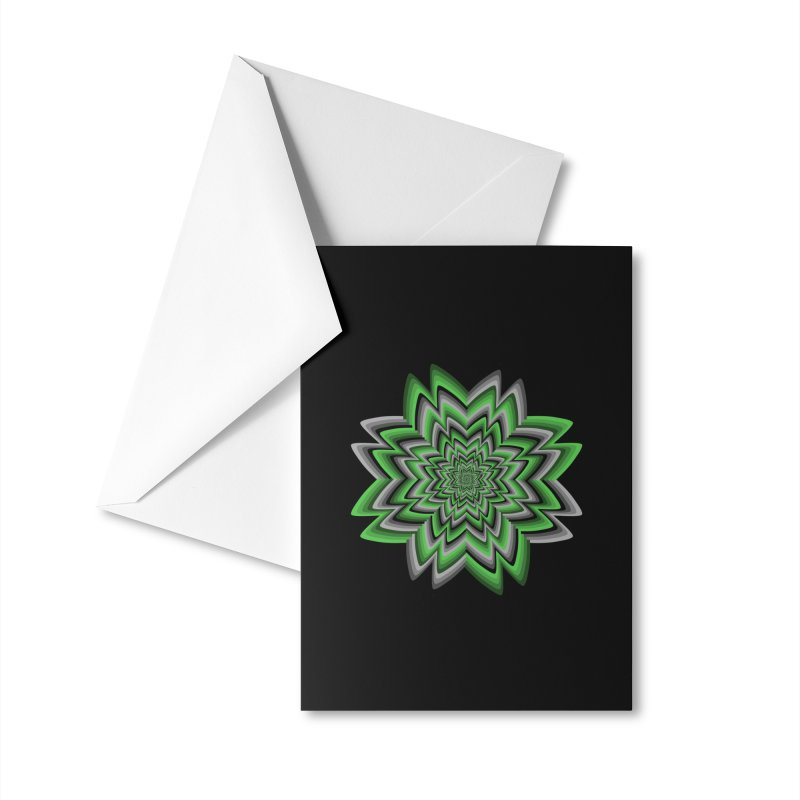 Wacky Clover Accessories Greeting Card by nickaker's Artist Shop