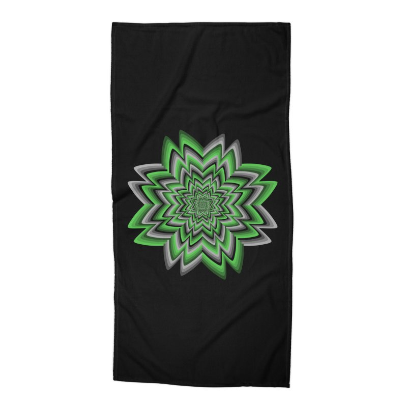 Wacky Clover Accessories Beach Towel by nickaker's Artist Shop