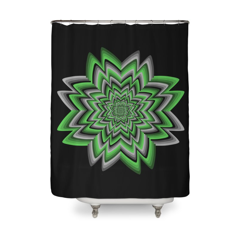 Wacky Clover Home Shower Curtain by nickaker's Artist Shop
