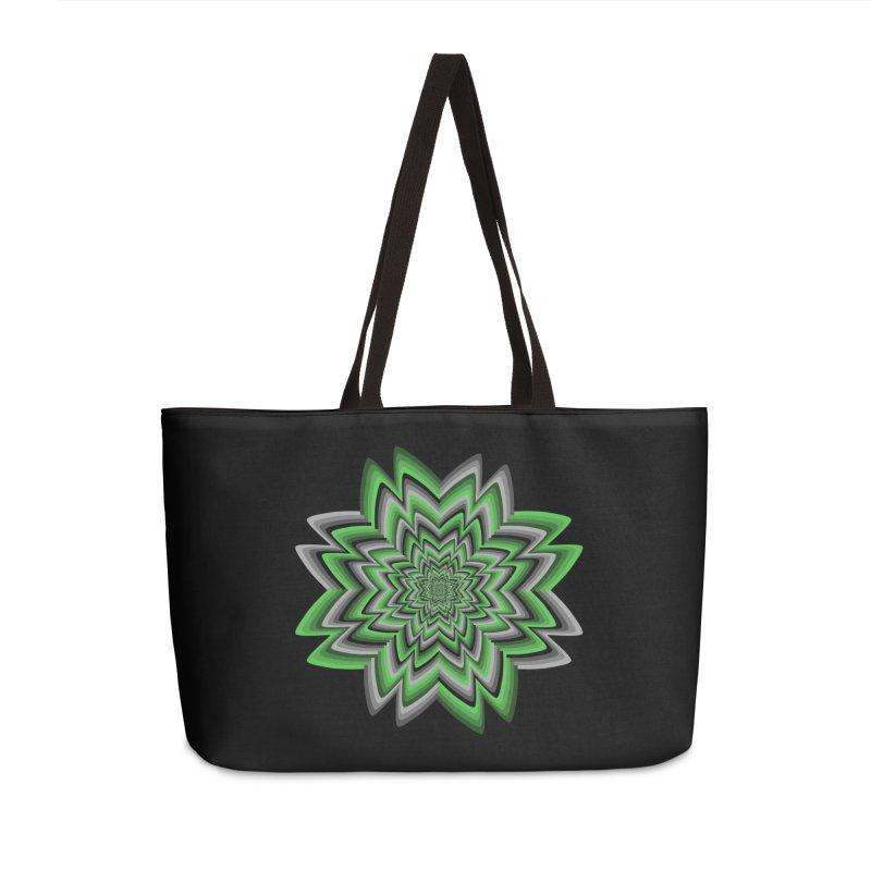 Wacky Clover Accessories Weekender Bag Bag by nickaker's Artist Shop
