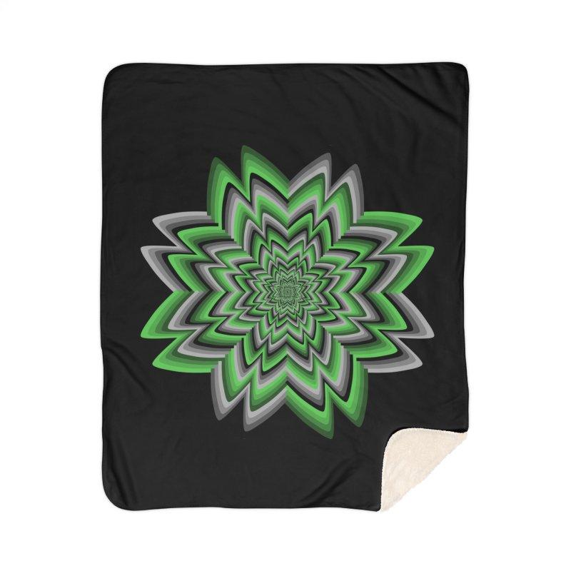 Wacky Clover Home Sherpa Blanket Blanket by nickaker's Artist Shop