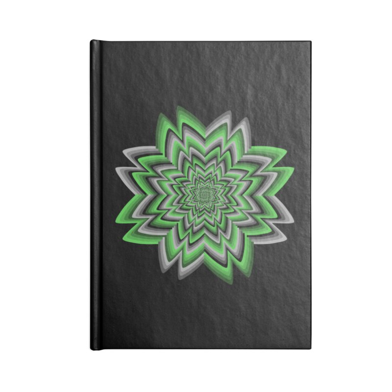 Wacky Clover Accessories Lined Journal Notebook by nickaker's Artist Shop