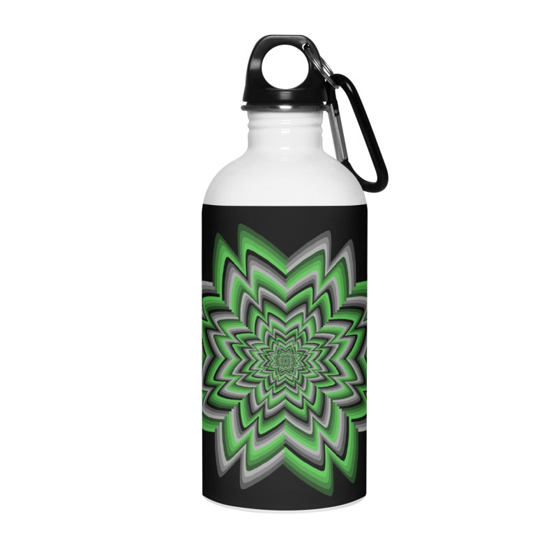 Wacky Clover Accessories Water Bottle by nickaker's Artist Shop