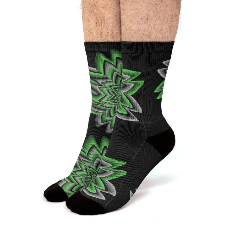 Wacky Clover Men's Socks by nickaker's Artist Shop