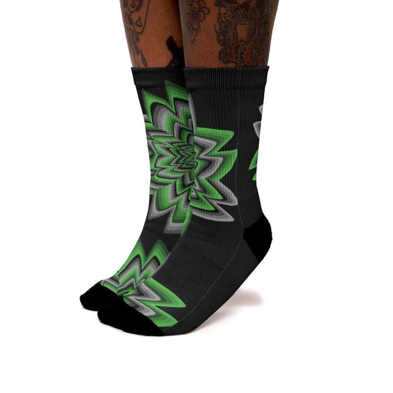 Wacky Clover Women's Socks by nickaker's Artist Shop