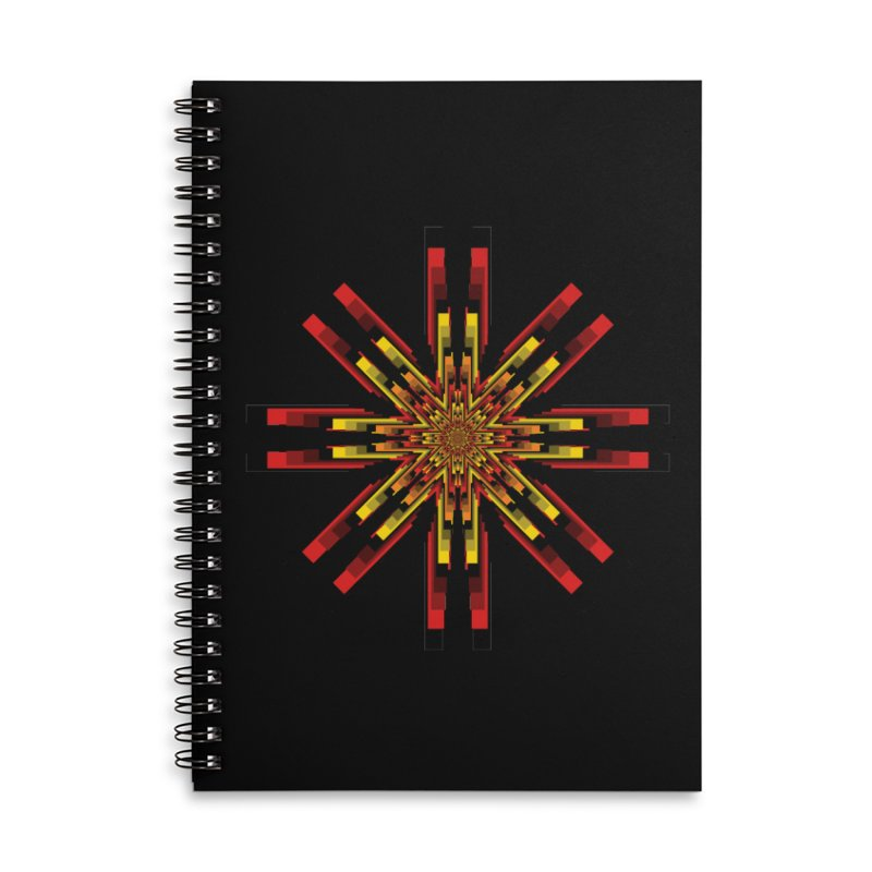 Gears - Autumn Accessories Lined Spiral Notebook by nickaker's Artist Shop