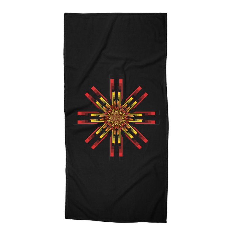 Gears - Autumn Accessories Beach Towel by nickaker's Artist Shop