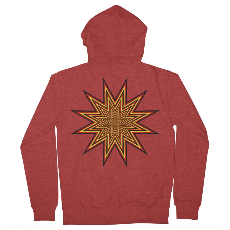 12 Star Men's French Terry Zip-Up Hoody by nickaker's Artist Shop