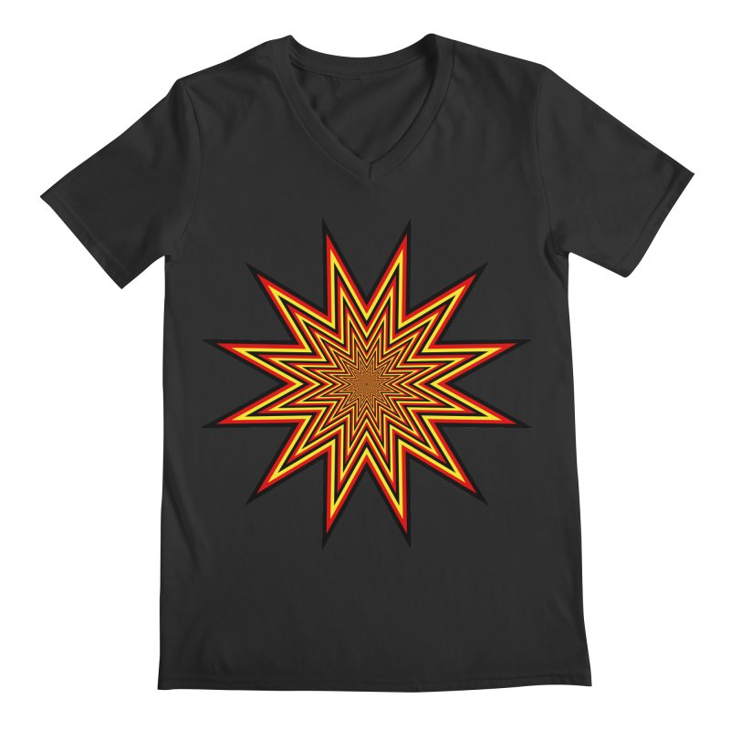 12 Star Men's Regular V-Neck by nickaker's Artist Shop