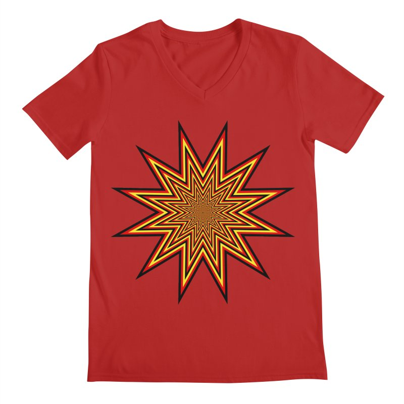 12 Star Men's V-Neck by nickaker's Artist Shop