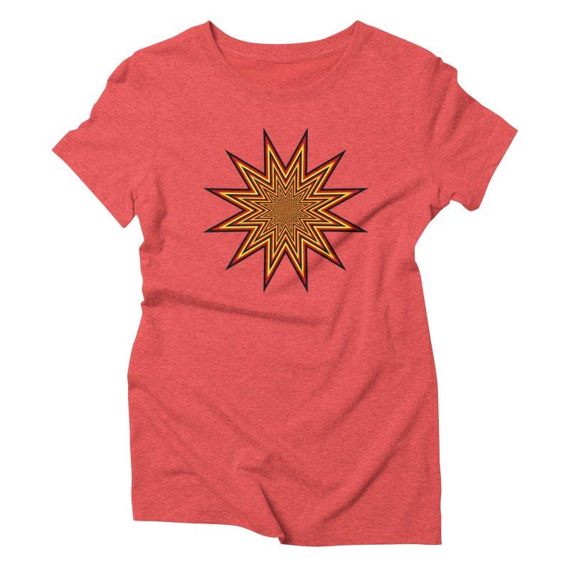 12 Star Women's Triblend T-Shirt by nickaker's Artist Shop