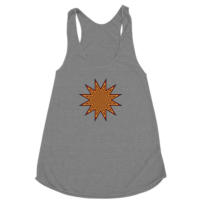 12 Star Women's Racerback Triblend Tank by nickaker's Artist Shop