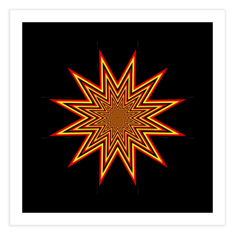 12 Star Home Fine Art Print by nickaker's Artist Shop