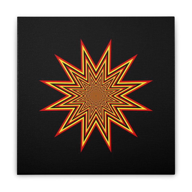 12 Star Home Stretched Canvas by nickaker's Artist Shop