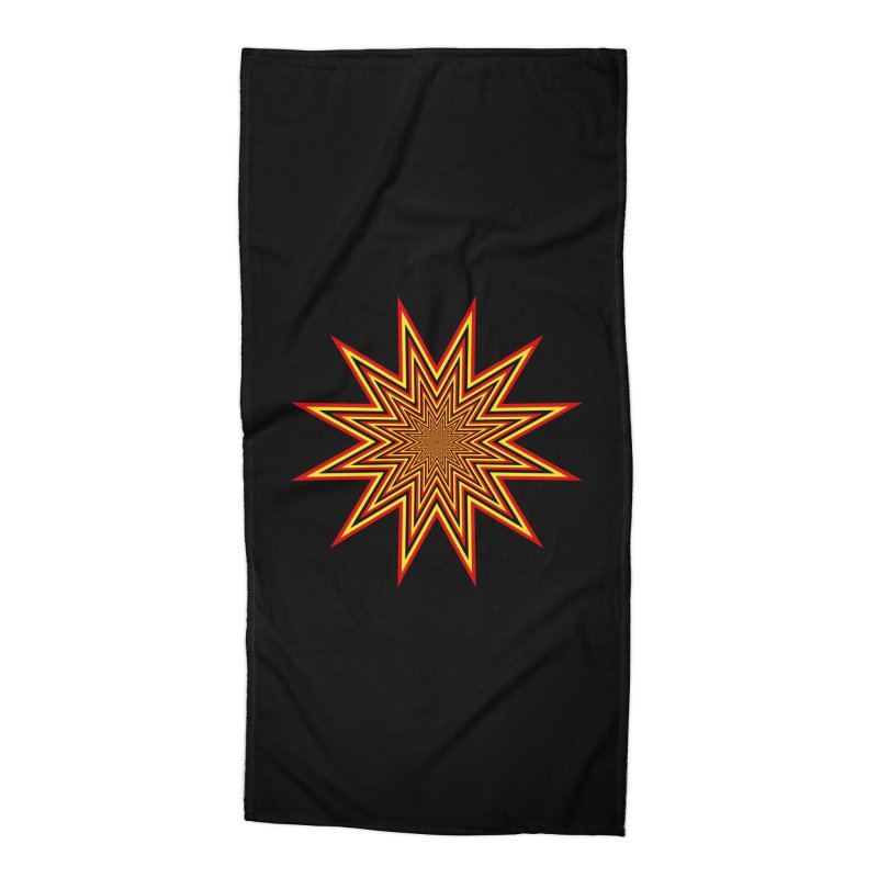 12 Star Accessories Beach Towel by nickaker's Artist Shop