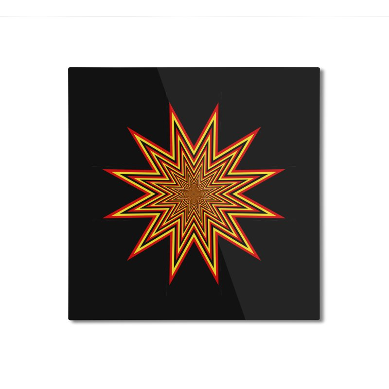 12 Star Home Mounted Aluminum Print by nickaker's Artist Shop