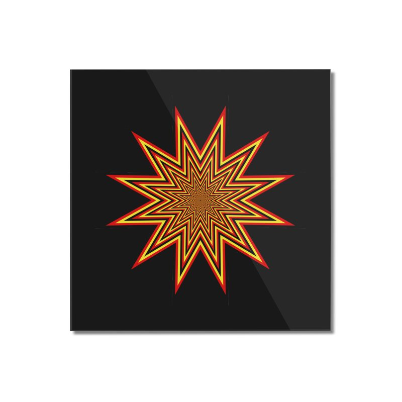 12 Star Home Mounted Acrylic Print by nickaker's Artist Shop