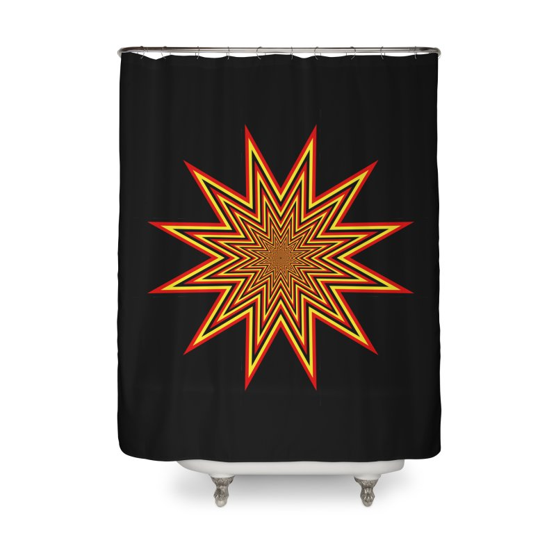 12 Star Home Shower Curtain by nickaker's Artist Shop