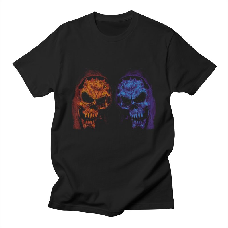 Fire and Ice Men's T-Shirt by nickaker's Artist Shop