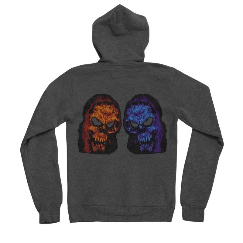 Fire and Ice Men's Zip-Up Hoody by nickaker's Artist Shop