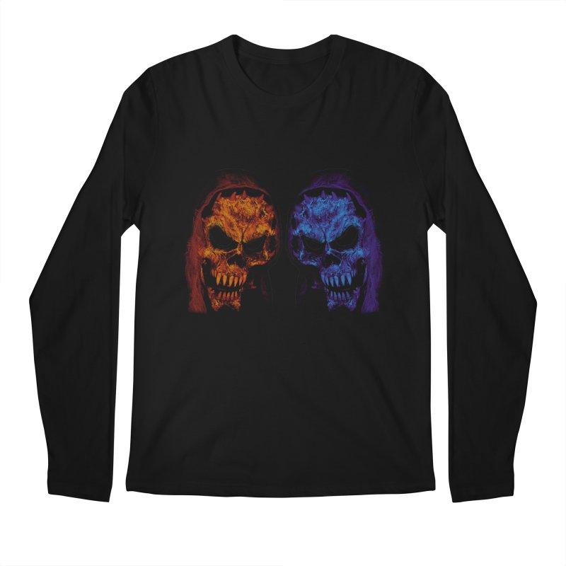 Fire and Ice Men's Longsleeve T-Shirt by nickaker's Artist Shop