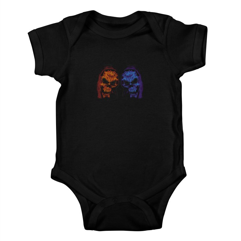 Fire and Ice Kids Baby Bodysuit by nickaker's Artist Shop