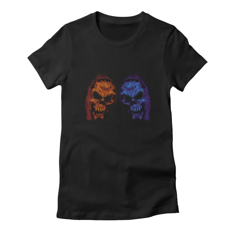 Fire and Ice Women's T-Shirt by nickaker's Artist Shop