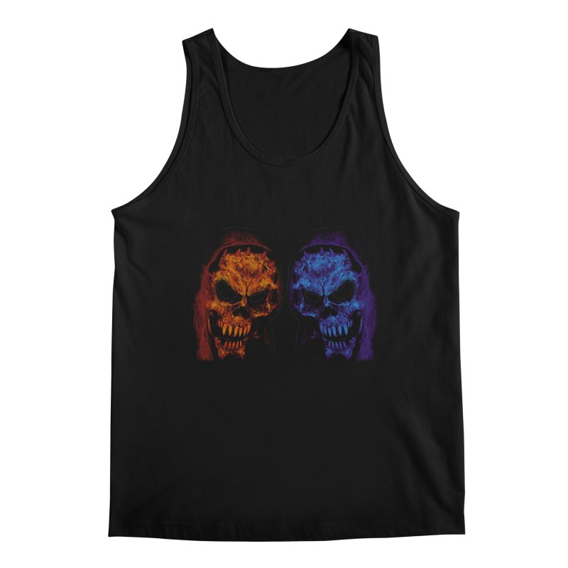 Fire and Ice Men's Tank by nickaker's Artist Shop