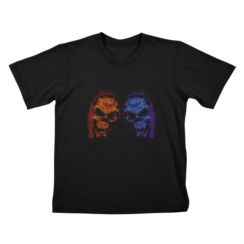 Fire and Ice Kids T-Shirt by nickaker's Artist Shop