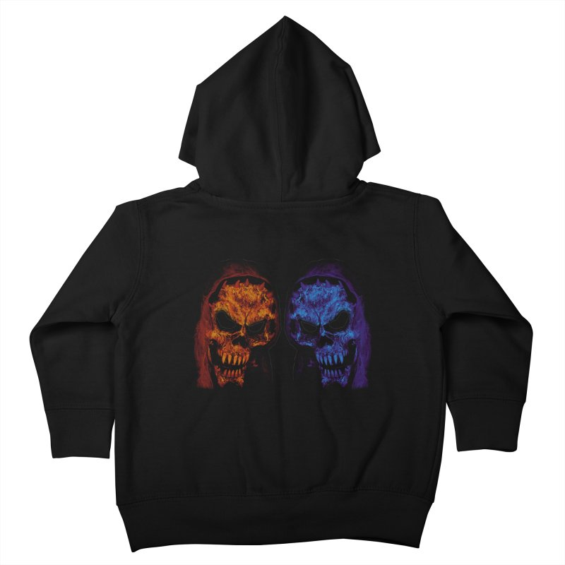 Fire and Ice Kids Toddler Zip-Up Hoody by nickaker's Artist Shop