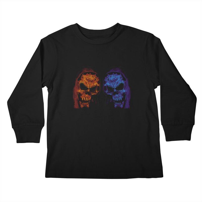 Fire and Ice Kids Longsleeve T-Shirt by nickaker's Artist Shop