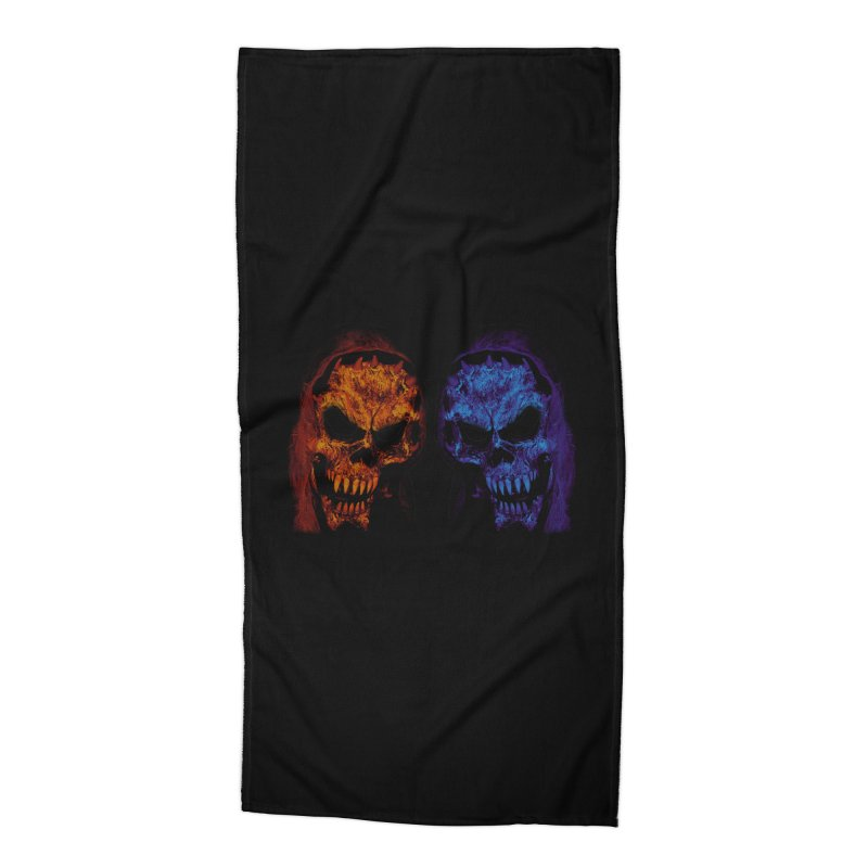 Fire and Ice Accessories Beach Towel by nickaker's Artist Shop